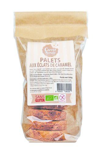Palets aux éclats de caramel sans gluten BIO, Carrés Ronds (120 g)