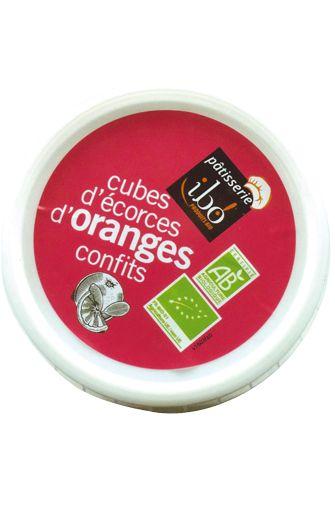 Cubes d'écorces d'oranges confits BIO, Ibo (150 g)