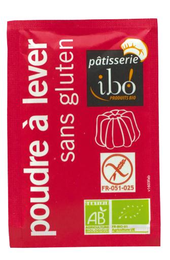 Poudre à lever sans gluten BIO, Ibo (8 x 10 g)
