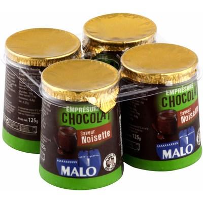 Emprésuré chocolat & noisettes, Malo (4 x 125 g)