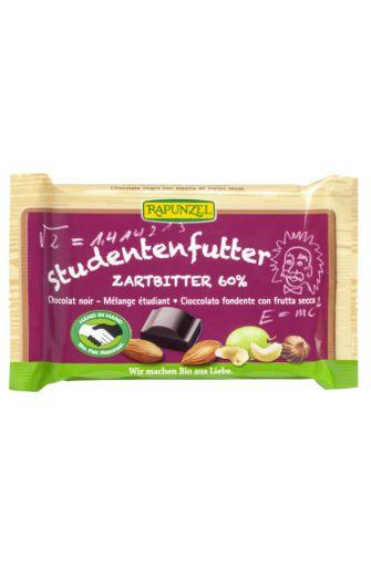 Chocolat noir vegan mélange étudiant BIO, Rapunzel (100 g)