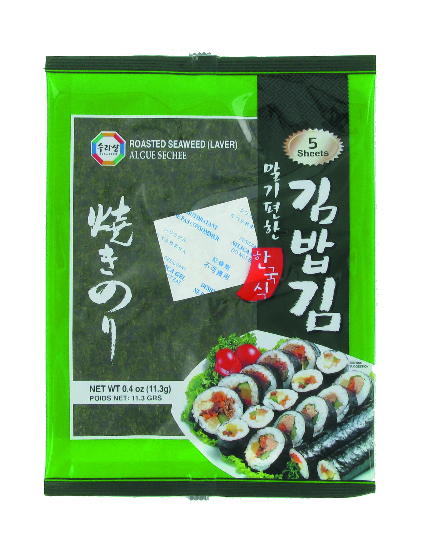Feuille d'algues de nori, Sura (x 5, 12 g)