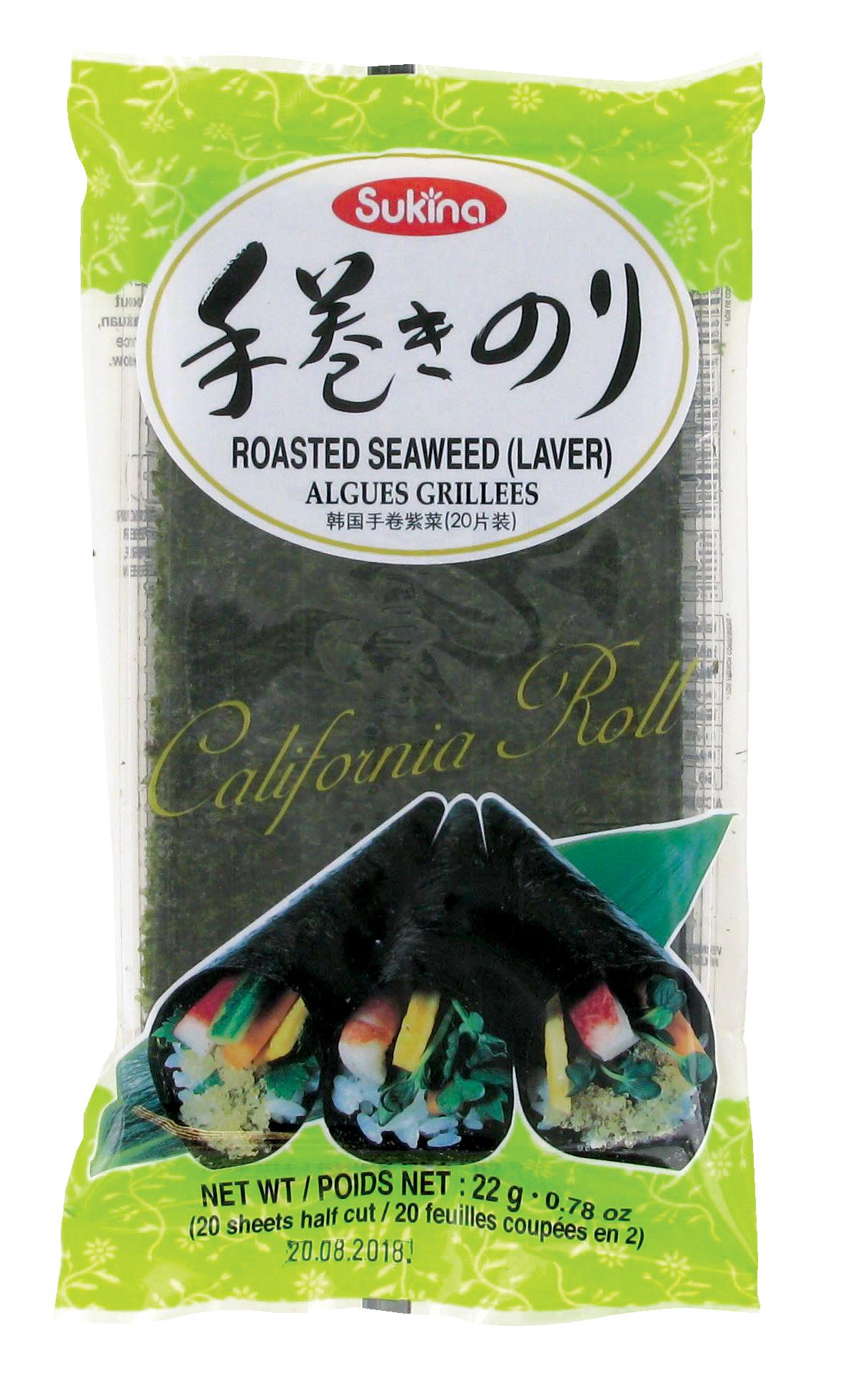 Algues grillées, Sukina (22 g)