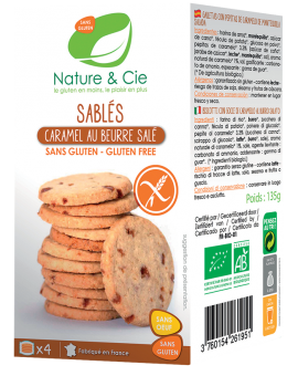 Sablés caramel au beurre salé, Nature & Cie (135 g)
