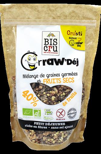 Crraw'Dej' mélange de graines germées et fruits secs BIO, Biscru (300 g)