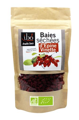 Baies séchées d'Epines Vinettes BIO, Ibo (100 g)