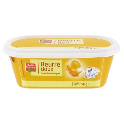 Beurre doux en beurrier, Belle France (250 g)