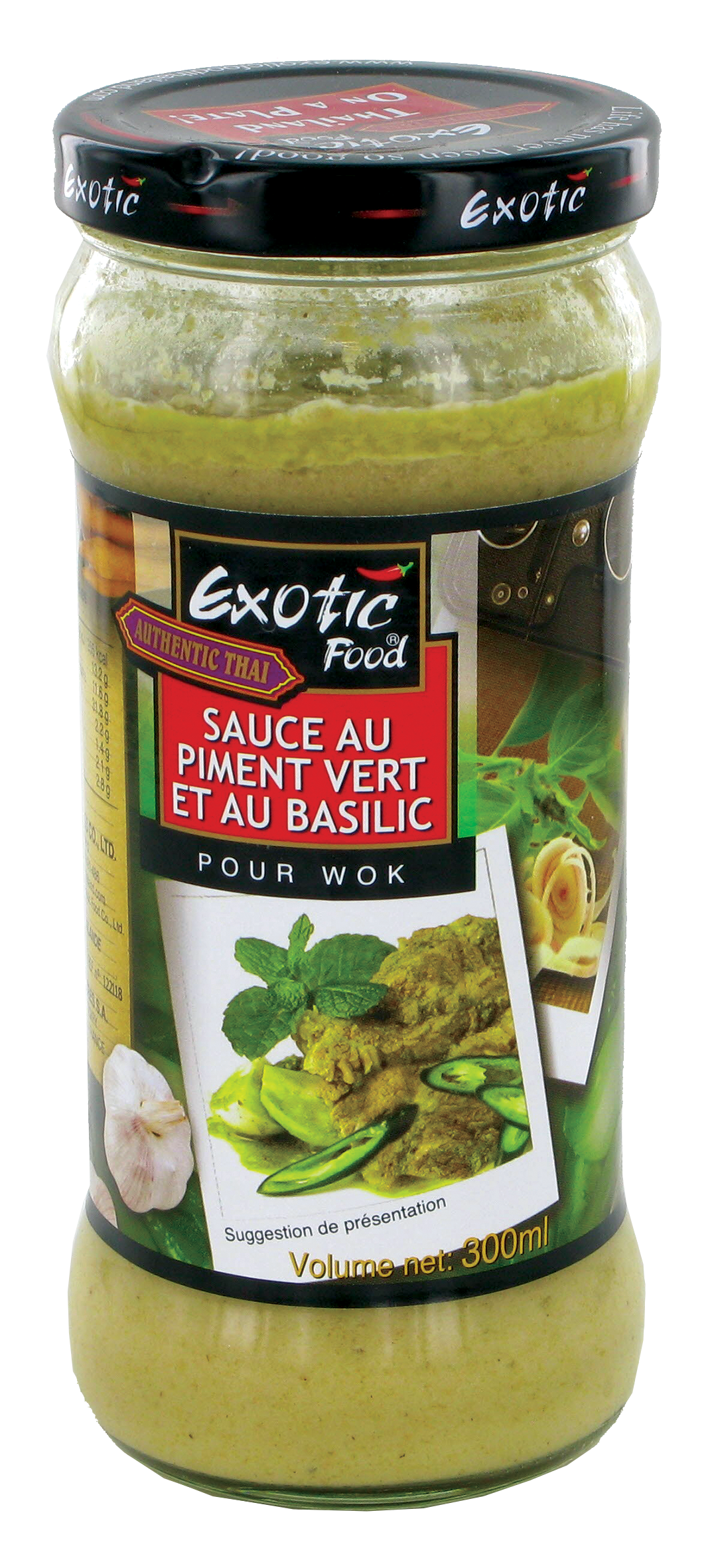 Sauce au piment vert et au basilic, Exotic food (300 ml)