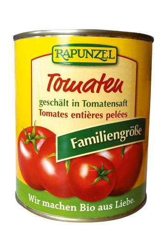 Tomates pelées entières BIO, Rapunzel (800 g)
