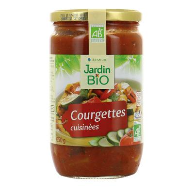 Courgettes cuisinées BIO, Jardin Bio (650 g)