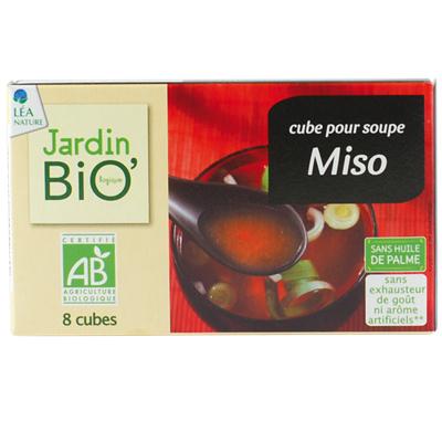 Cubes pour soupe miso BIO, Jardin Bio (x 8)
