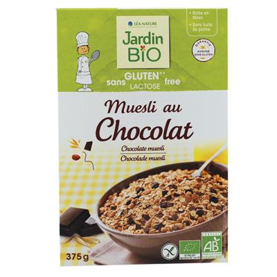 Muesli au chocolat BIO, Jardin Bio (375 g)