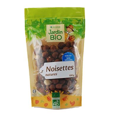 Noisettes émondées et grillées BIO, Jardin Bio (100 g)