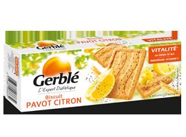 Biscuits au pavot et au citron, Gerblé (x 12, 200 g)