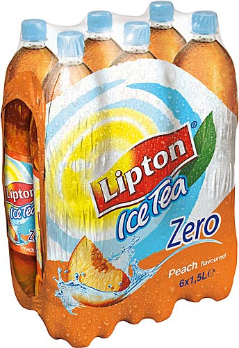 Ice Tea pêche Zero, Lipton (6 x 1,5 L)