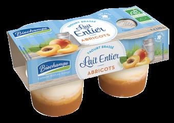 Yaourt brassé au lait entier abricots BIO, Biochamps (x 2, 250 g)