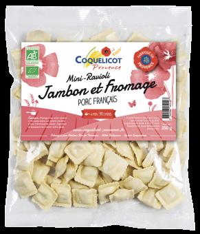 Mini ravioli jambon fromage BIO, Coquelicot (250 g)