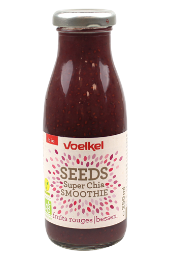 Smoothie chia fruits rouges BIO, Voelkel (25 cl)