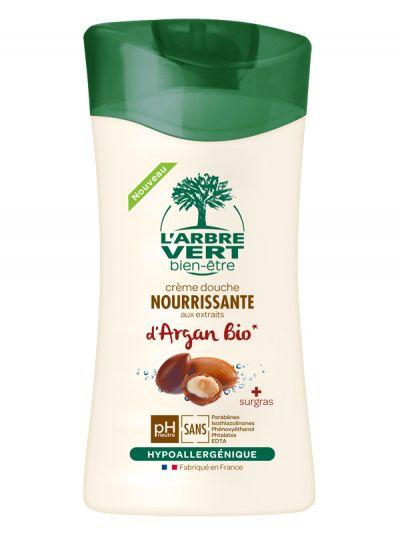 Crème douche argan BIO, L'Arbre Vert (250 ml)