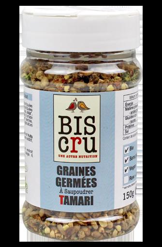 Graines germées à saupoudrer tamari BIO, Biscru (150 g)