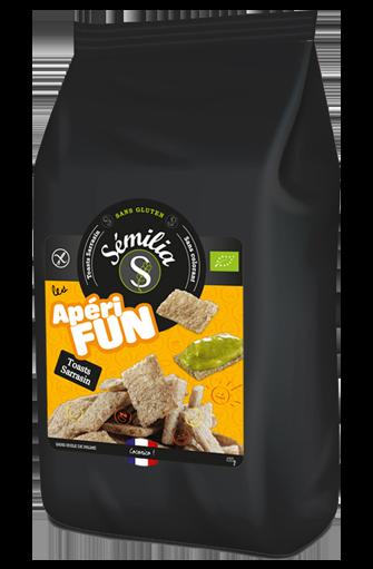 Apérifun toast sarrasin sans gluten et BIO, Sémilia (100 g)