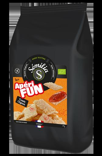Apérifun toast oignon sans gluten et BIO, Sémilia (100 g)