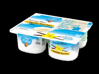 Fromage blanc sucré à la vanille Bourbon, 2,9 % MG/PF BIO, Tante Hélène (400 g)