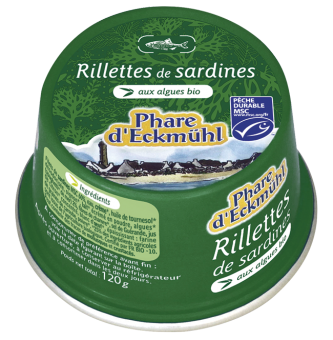 Rillettes de sardines aux algues bio, Phare d'Eckmuhl (120 g)