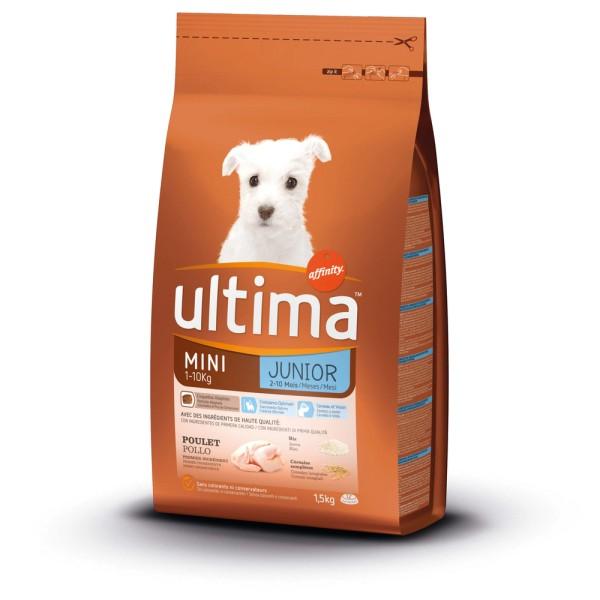 Croquette pour chien Mini Junior au poulet, riz et céréales, Ultima (1.5  kg)