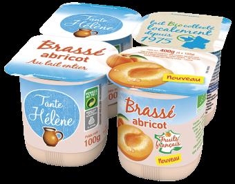 Yaourt brassé à l'abricot, arôme bio BIO, Tante Hélène (x 4, 400 g)