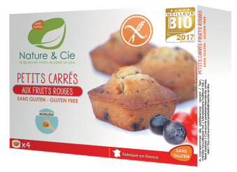 Petits carrés aux fruits rouges, Nature & Cie (160 g)
