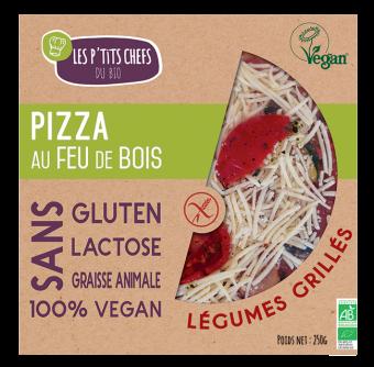 Pizza aux légumes grillés sans gluten, Les P'tits Chefs du Bio (250 g)