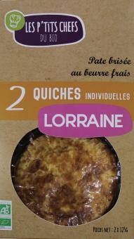 Quiche lorraine BIO, Les P'tits Chefs du Bio (x 2, 250 g)