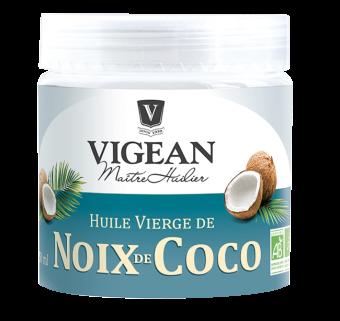 Huile vierge de noix de coco BIO, 1ère pression à froid, Vigean (25 cl)