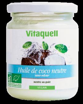 Huile de coco neutre BIO, Vitaquell (200 g)