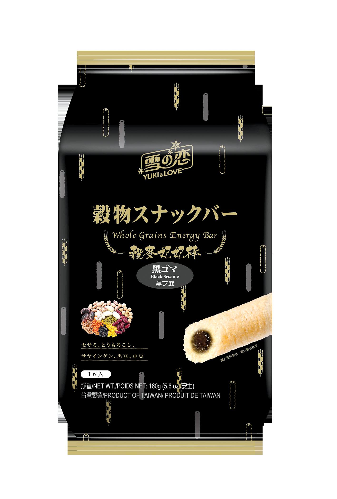 Biscuits roulés fourrés au sésame noir, Yuki&Love (160 g)