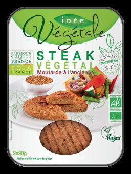Steak végétal moutarde à l'ancienne, Idée Végétale (x 2, 180 g)