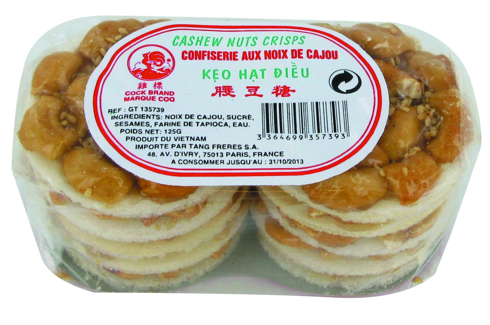 Confiseries aux noix de cajou Cock (125 g)