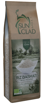 Riz basmati blanc BIO, cuisson 12 mn, Sun Clad (500 g)