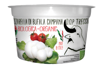 Mozzarella de bufflonne tresse DOP BIO, Biologica (250 g)