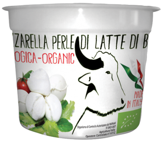 Perles de mozzarella de bufflonne BIO, Biologica (125 g)
