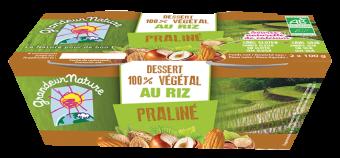Dessert végétal riz praliné BIO, Grandeur Nature (x 2, 200 g)