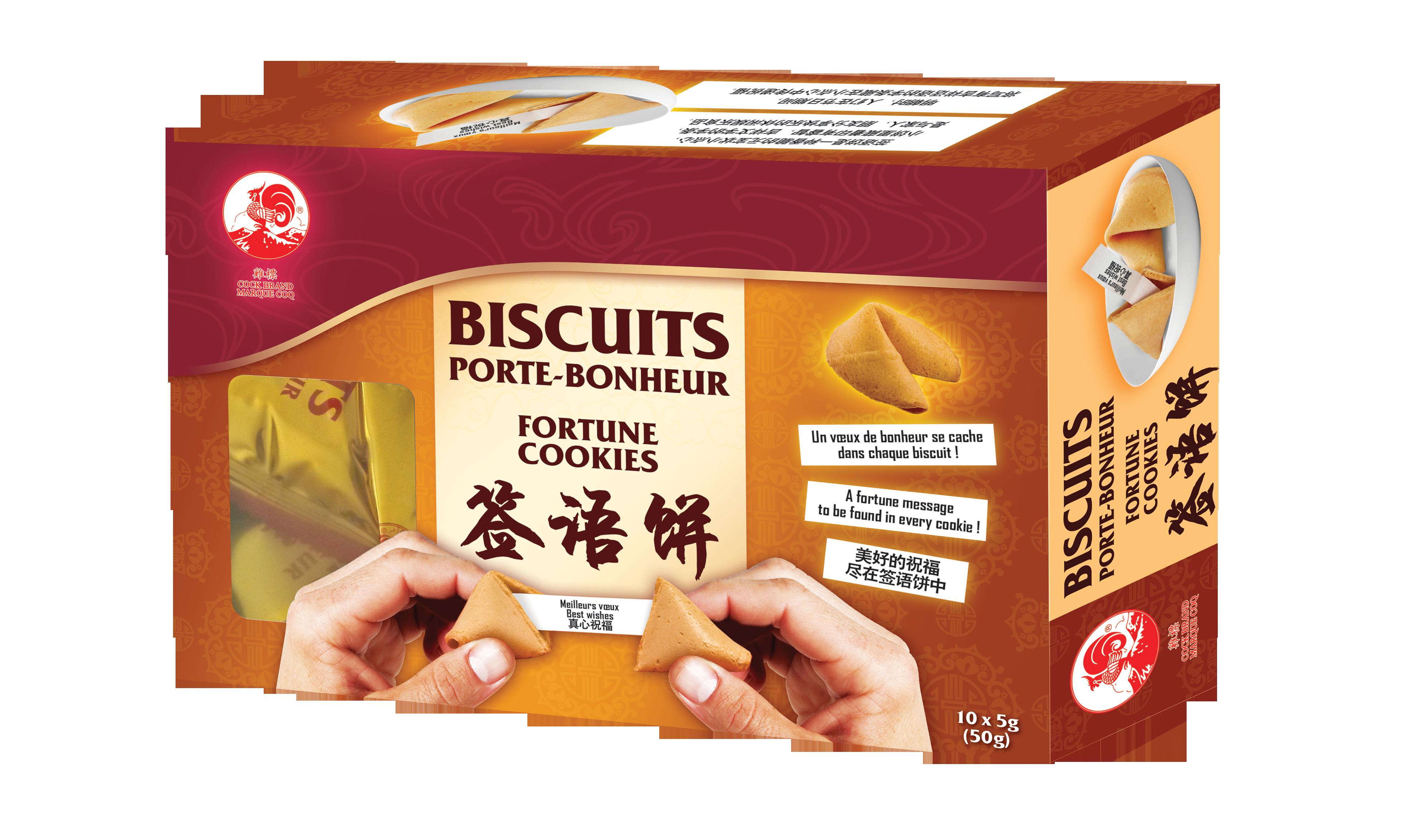 Biscuits fortune cookies, Cock (50 g)