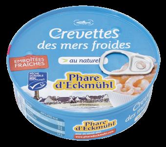 Crevettes des mers froides au naturel, Phare d'Eckmuhl (200 g)