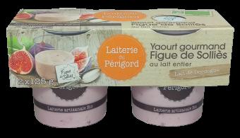 Yaourt gourmand au lait entier à la figue de Solliès BIO, Laiterie du Périgord (x 2, 250 g)