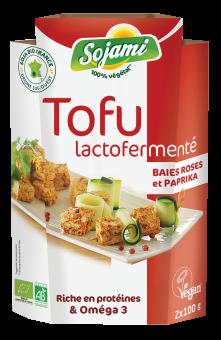 Tofu lactofermenté aux baies roses, Le Sojami (x 2, 200 g)