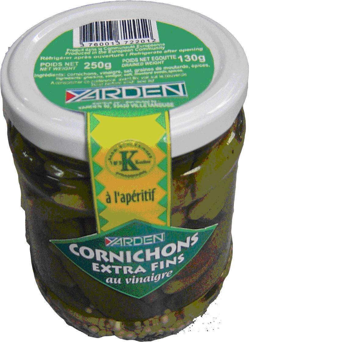 Cornichons fins au vinaigre, Yarden (340 g)