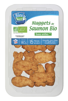 Nuggets de saumon BIO, Bleu-Vert (180 g)