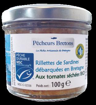 Rillettes de sardines MSC aux tomates séchées, Pêcheurs Bretons (100 g)