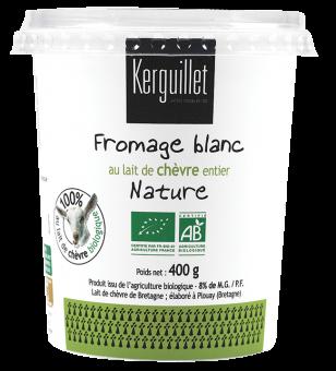 Fromage blanc au lait de chèvre BIO, 8 % MG, Kerguillet (400 g)